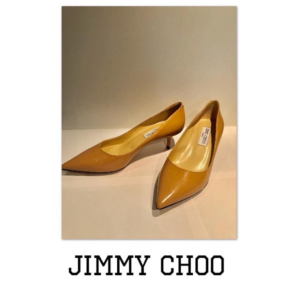 64606d3790a Jimmy Choo Aza Nude Patent Leather Pump